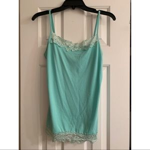 Maurice's Mint Green Lace Trim Camisole Size Med